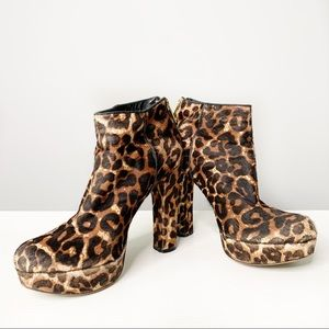 Michael Kors Animal Print Ankle Boot with …